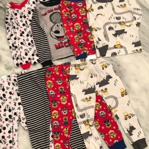 Four Carter's 3T snug fit pajama sets